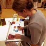 Essai de transparence avec peinture à l'oeuf