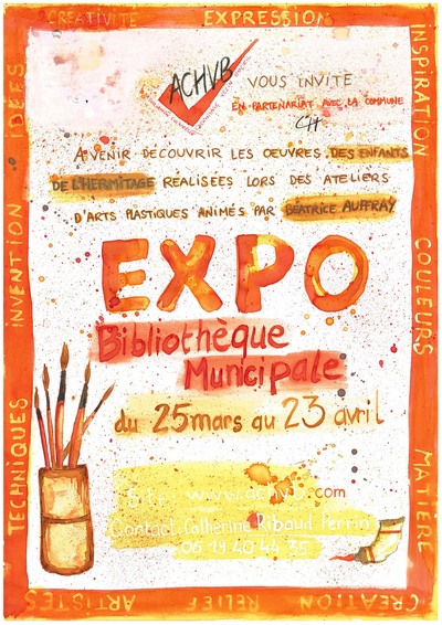 Affiche expo médiathèque l'Hermitage 2016