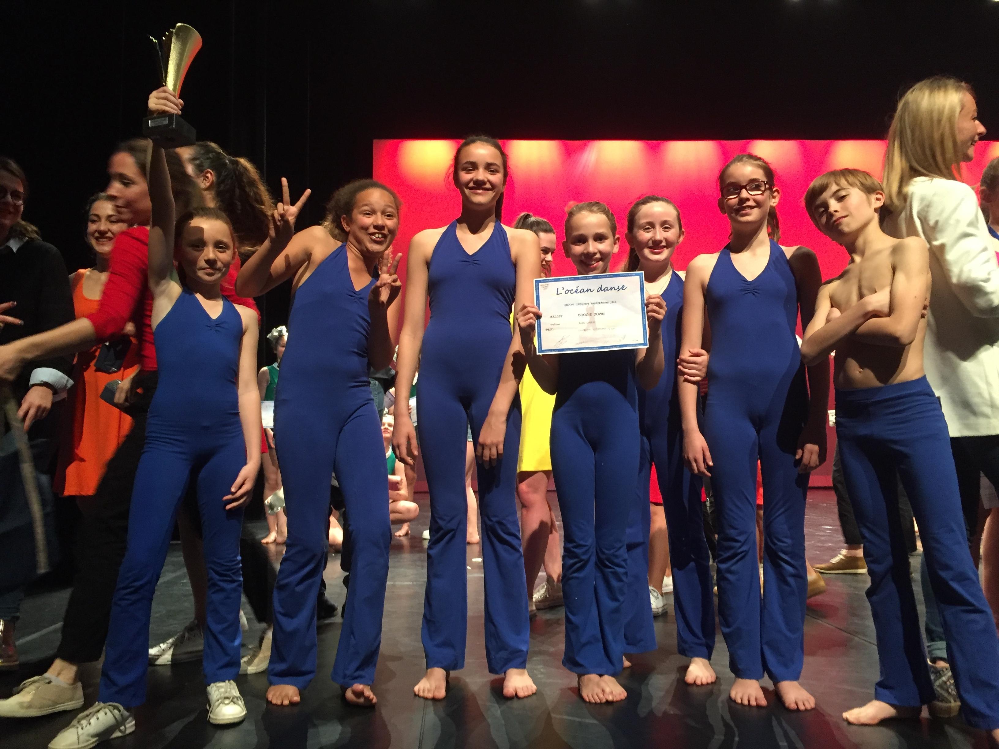 Groupe concours junior 2018 ocean danse
